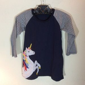 Rainbow unicorn girl's tunic